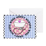 happy nurses week card blue Greeting Cards (Pk of