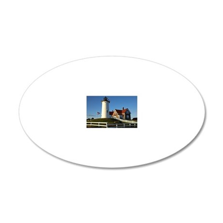 Nobska Lighthouse, Woods Hol 20x12 Oval Wall Decal