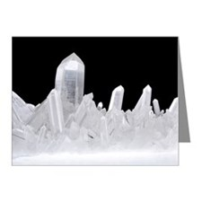 Quartz crystals Note Cards (Pk of 10)