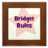 Bridget Rules Framed Tile