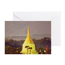 Sunrise over a Buddhist  Greeting Cards (Pk of 20)