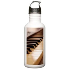 Piano keyboard, close- Water Bottle