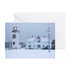 Snow Covered Lighthouse Greeting Cards (Pk of 20)