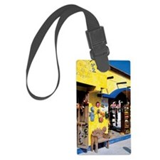 Souvenirs for sale in a shop, Pl Luggage Tag