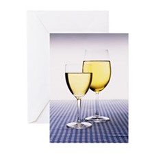 White Wine Greeting Cards (Pk of 10)