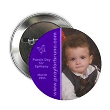 "Bruno Purple Day 2013 2.25"" Button (10 pack)"