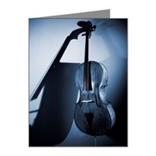 A cello leaning on a wall (B Note Cards (Pk of 10)
