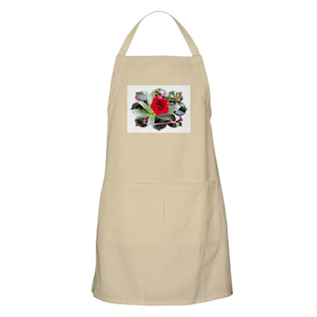 Red Flower BBQ Apron