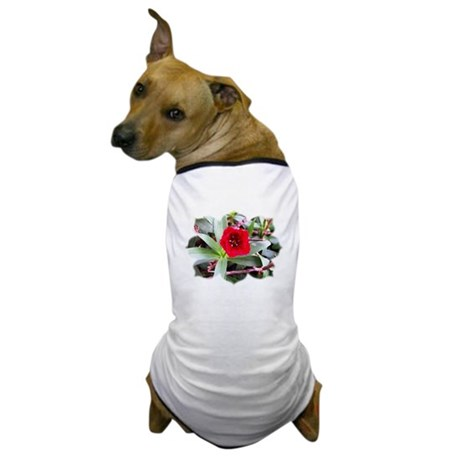 Red Flower Dog T-Shirt