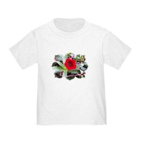 Red Flower Toddler T-Shirt