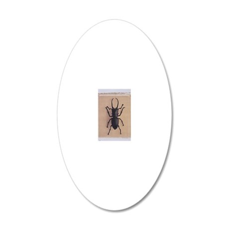 Stag Beettle 20x12 Oval Wall Decal