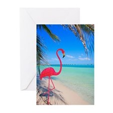Pink flamingo decoration Greeting Cards (Pk of 20)