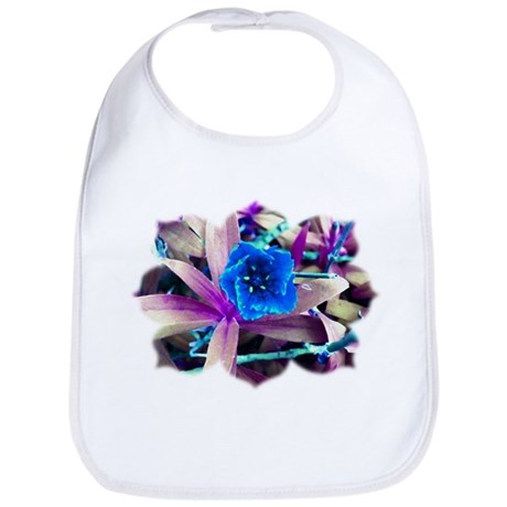 Blue Flower Bib