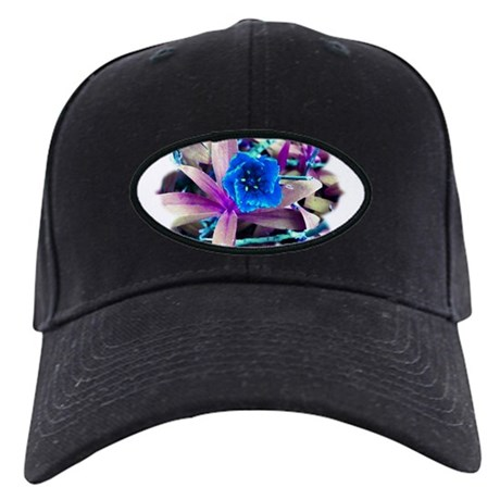 Blue Flower Black Cap
