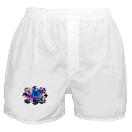 Blue Flower Boxer Shorts