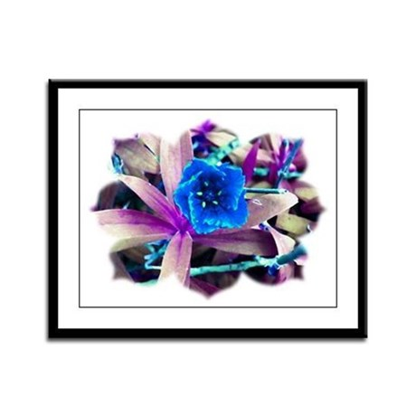 Blue Flower Framed Panel Print