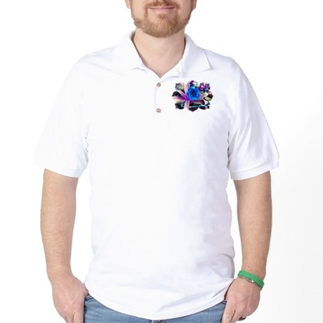 Blue Flower Golf Shirt