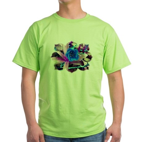 Blue Flower Green T-Shirt