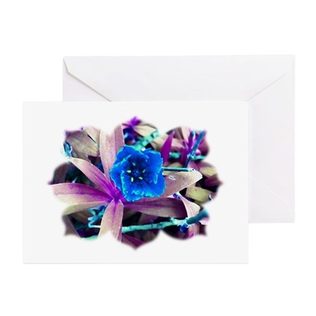 Blue Flower Greeting Cards (Pk of 10)