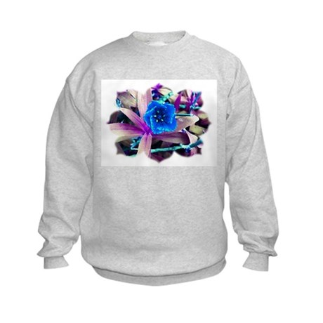 Blue Flower Kids Sweatshirt