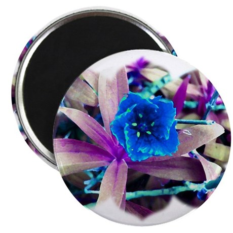 "Blue Flower 2.25"" Magnet (100 pack)"