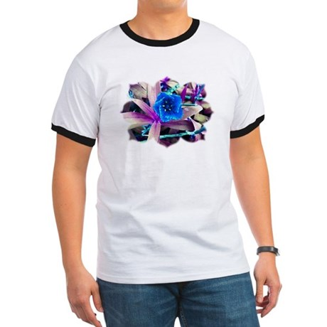 Blue Flower Ringer T