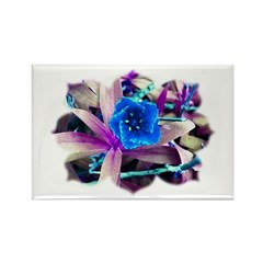 Blue Flower Rectangle Magnet (100 pack)