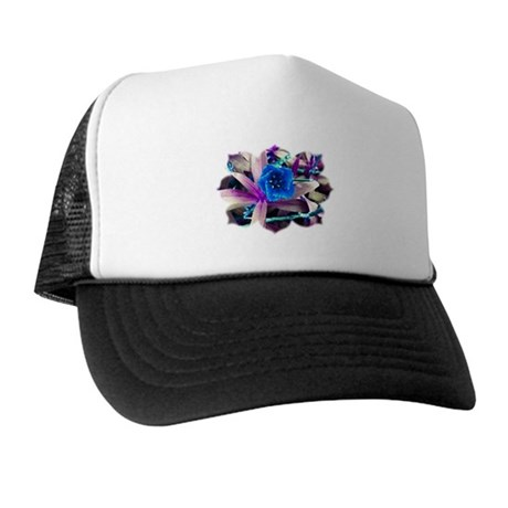 Blue Flower Trucker Hat