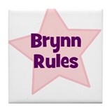 Brynn Rules Tile Coaster