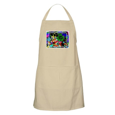 Green Flower BBQ Apron
