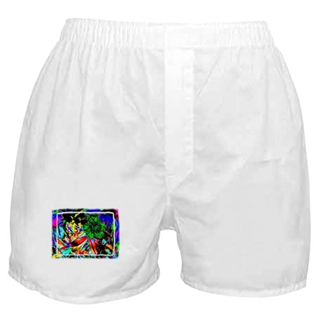Green Flower Boxer Shorts