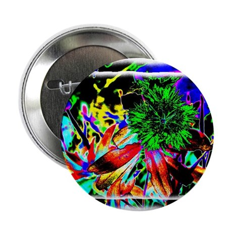 "Green Flower 2.25"" Button (10 pack)"