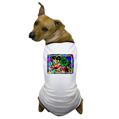 Green Flower Dog T-Shirt