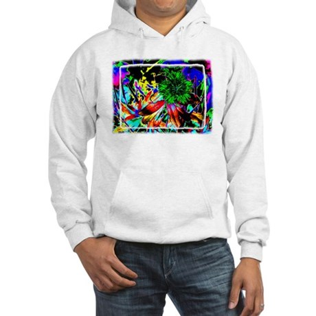 Green Flower Hooded Sweatshirt