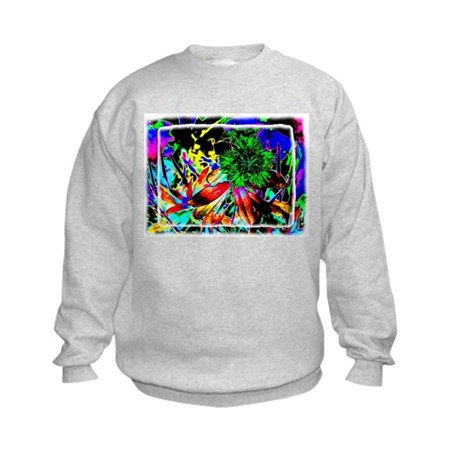 Green Flower Kids Sweatshirt