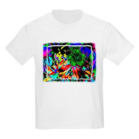 Green Flower Kids T-Shirt