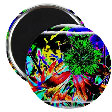"Green Flower 2.25"" Magnet (10 pack)"
