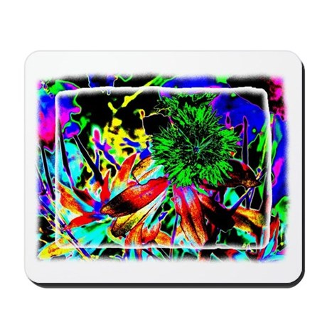 Green Flower Mousepad