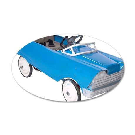 Toy car 35x21 Oval Wall Decal