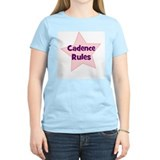 Cadence Rules Women's Pink T-Shirt