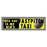 Fastpitch Softball Bumper Car Sticker