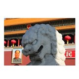Close-up of a lion statue Postcards (Package of 8)