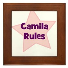 Camila Rules Framed Tile
