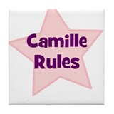 Camille Rules Tile Coaster