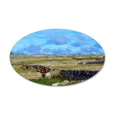 Aran Islands, Inishmore, Ire 35x21 Oval Wall Decal