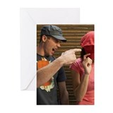 Man Yelling at Woman Greeting Cards (Pk of 10)