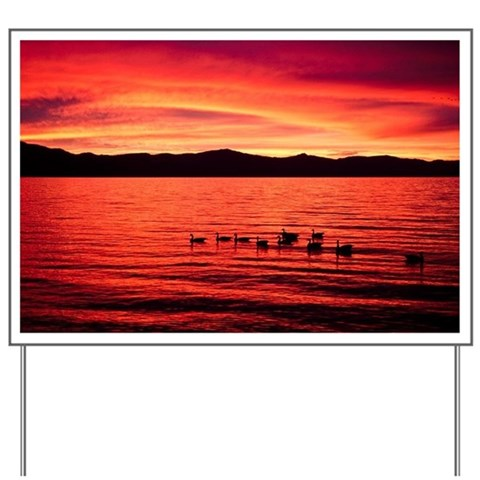 Sunset over Lake Tahoe, California, USA Yard Sign