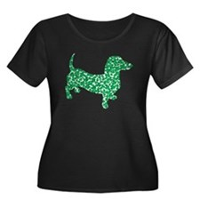 St. Patricks Day Dachshund Doxie Plus Size T-Shirt