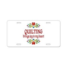 Quilting Joy Aluminum License Plate