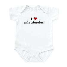 I Love mis abuelos Infant Bodysuit